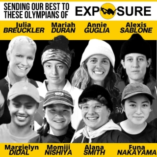 All of our best to these shredders in Tokyo tomorrow! Super excited to watch our favorite Exposure Olympians in the Games! Pinch us! We're dreaming!  . . @tokyo2020 #tokyo2020 @olympics #olympics #olympicskateboarding @olympicskateboarding #exposure #exposureskate #olympiansofexposure